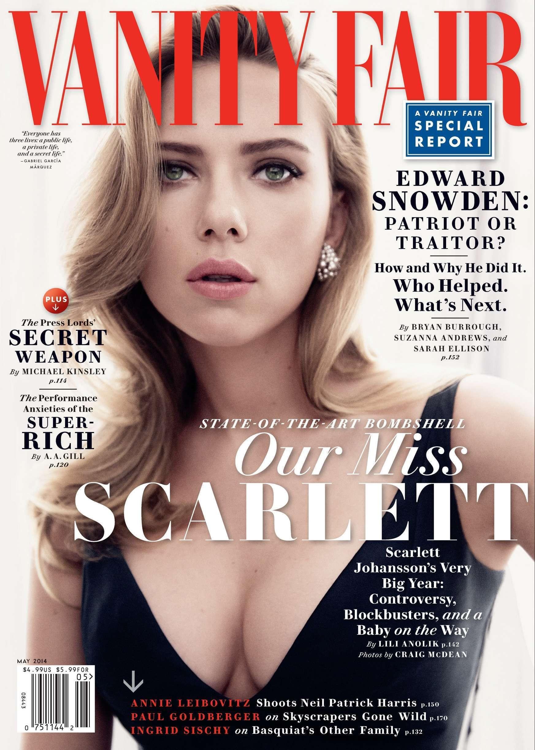 Scarlett johansson для журнала vanity fair май 2014